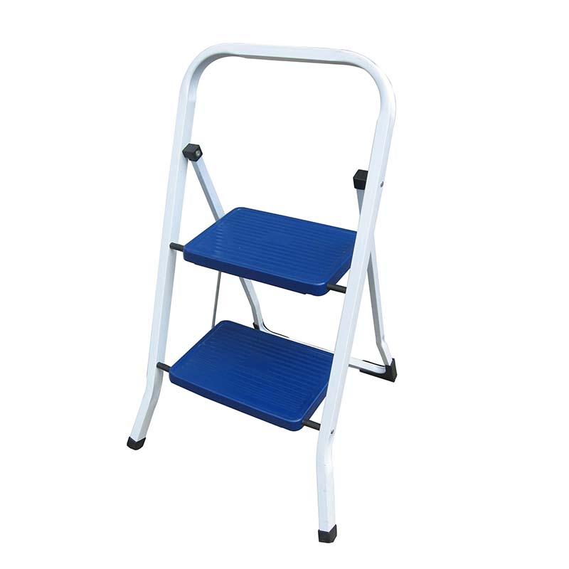 LF202-204 Steel Folding 2 3 4 Step Ladder Safety Non Slip Small Stool Ladders Kitchen DIY