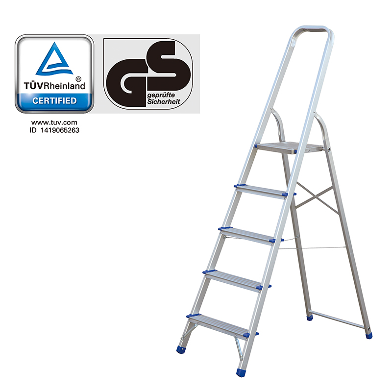 TUV/GS Folding Step Ladder Aluminium 3 -8 Step Safety Non-Slip Step Household